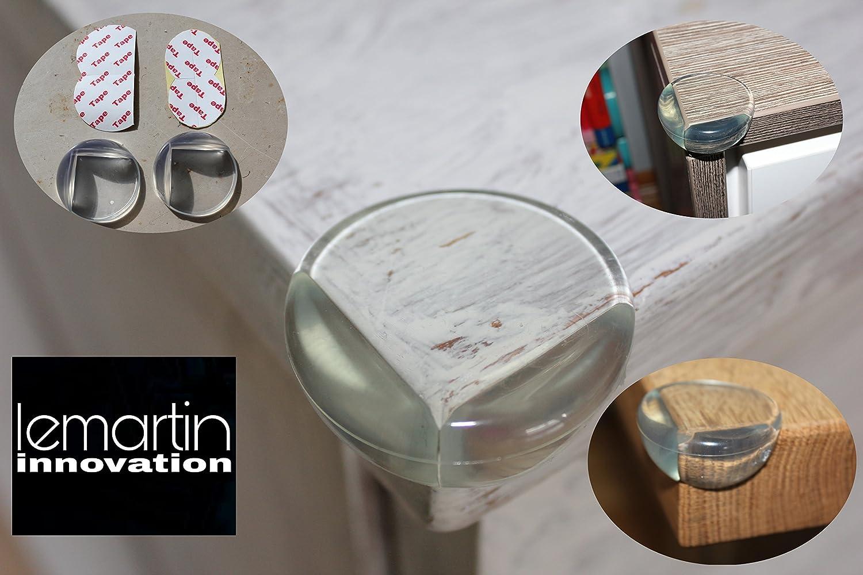 Silikon Eckenschutz Kantenschutz Selbstklebend ( 8er Packung ) inklusive  TAPE  Klebeband - Kindersicherung, Möbelschutz lemartin Möbelschutz lemartin SK180213