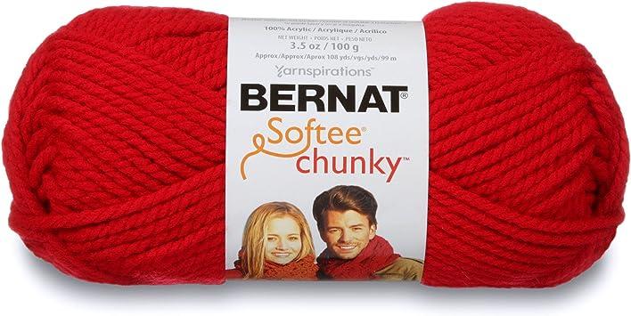 Single Ball Yarn Red Bernat Softee Chunky Yarn Berry Red