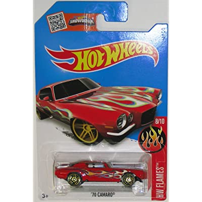 Hot Wheels 2016 H.W. Flames 70 Chevy Camaro Red 98/250: Toys & Games