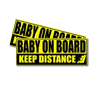 Wrapco Baby on Board Sticker for Cars Baby Safety Sign Decal, Auto Baby on Board Sign for Vehicles: Automotive