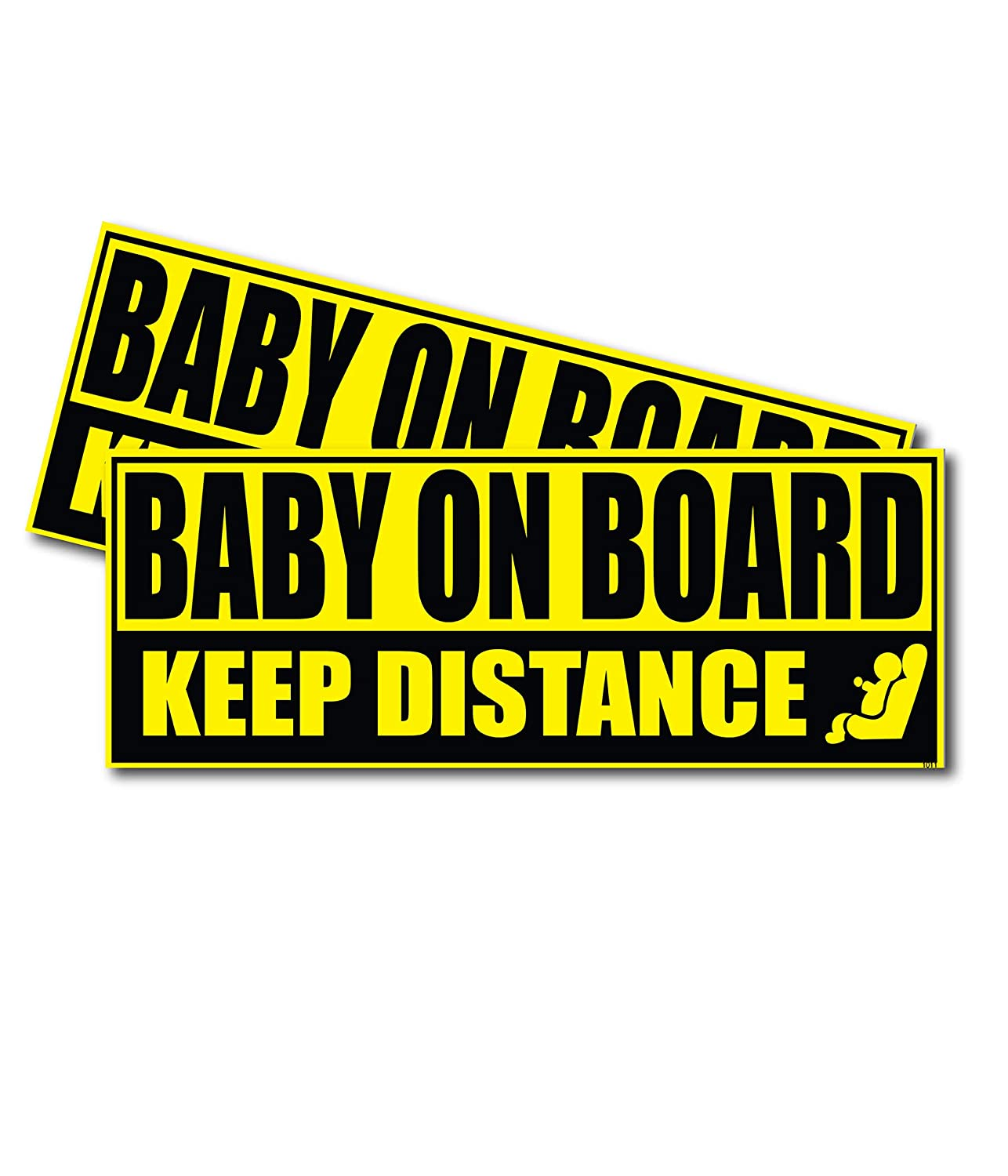 Wrapco Baby on Board Sticker for Cars Baby Safety Sign Decal, Auto Baby on Board Sign for Vehicles Wrapco Graphics