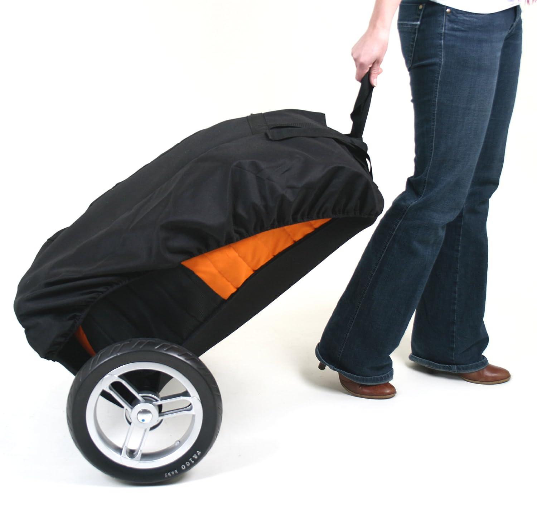 Valco Baby Universal Stroller Roller Travel Bag, Orange/Black
