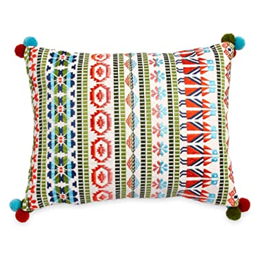 The Pioneer Woman Embroidered Stripe 14x18 Decorative Pillow