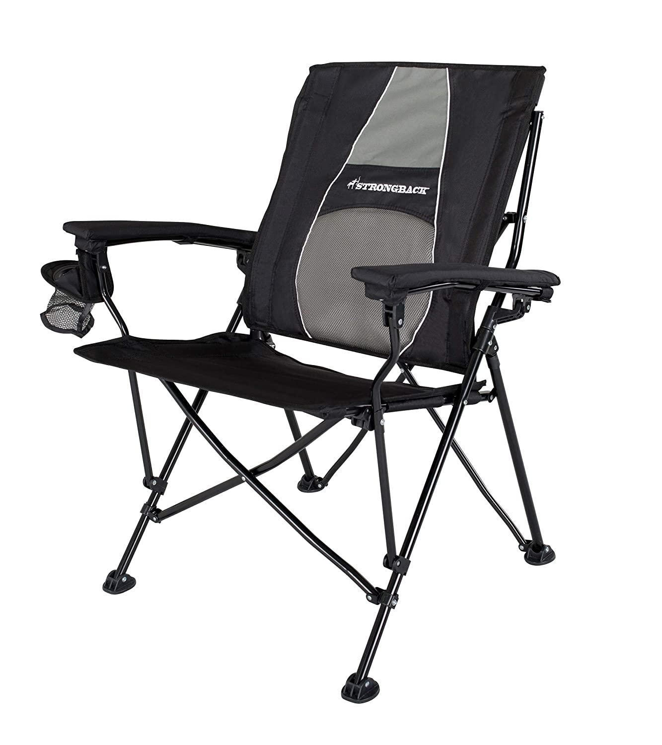 Elite Folding Camping Chair with Lumbar Support
