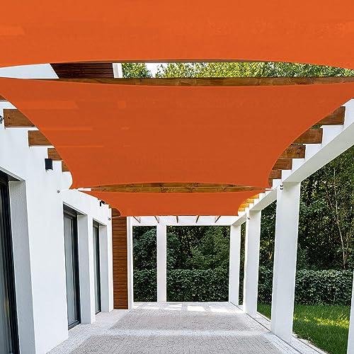 Patio Paradise 24' x 24' FT Orange Sun Shade Sail Rectangle Square Canopy