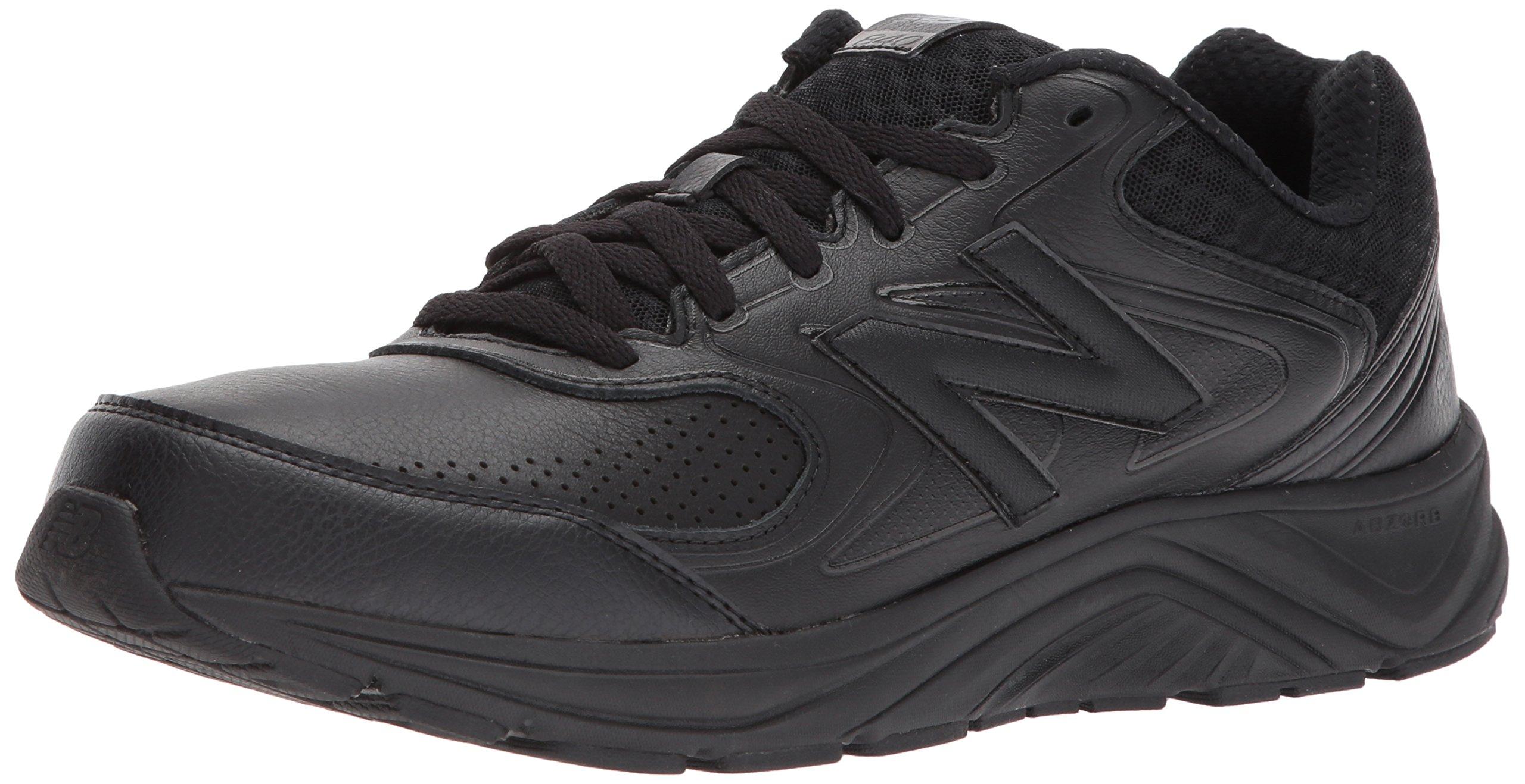 New Balance Men's MW840v2 Walking Shoe, Black/Black, 14 2E US by New Balance