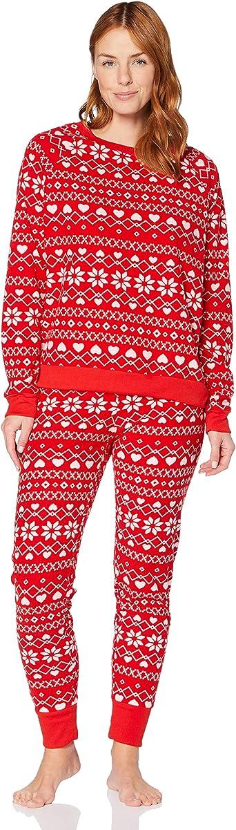 Iris /& Lilly Womens Fleece Pyjama Set