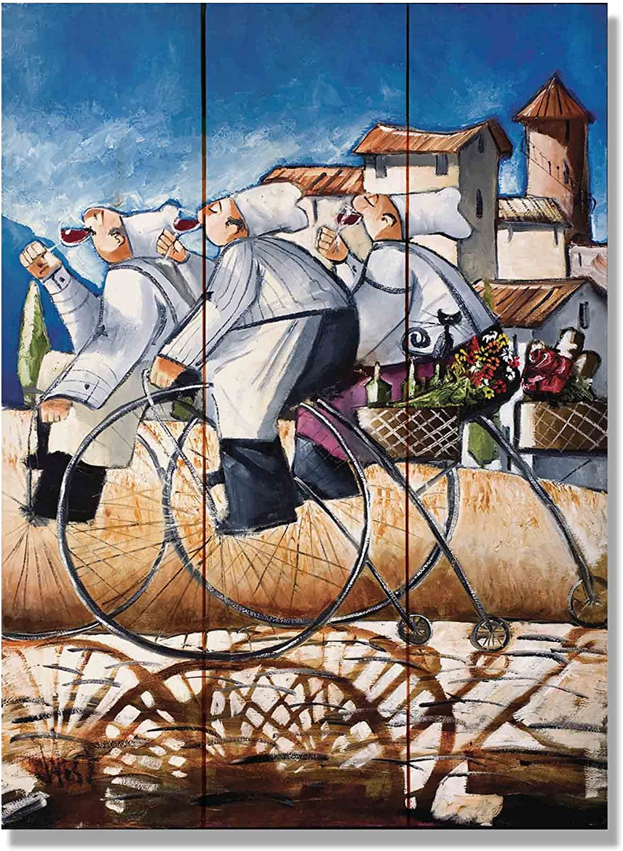 Wile E. Wood Wests Baker Bikes Art: Amazon.es: Hogar
