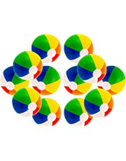 """16"""" Rainbow Color Party Pack Inflatable Beach Balls - Beach Pool Party Toys (12 Pack)"""