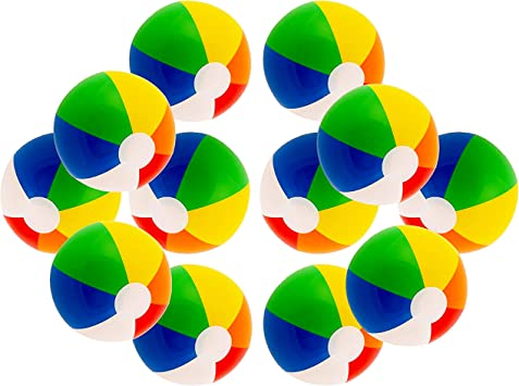 Amazon.com: Balones de playa multicolor de 16 pulgadas para ...