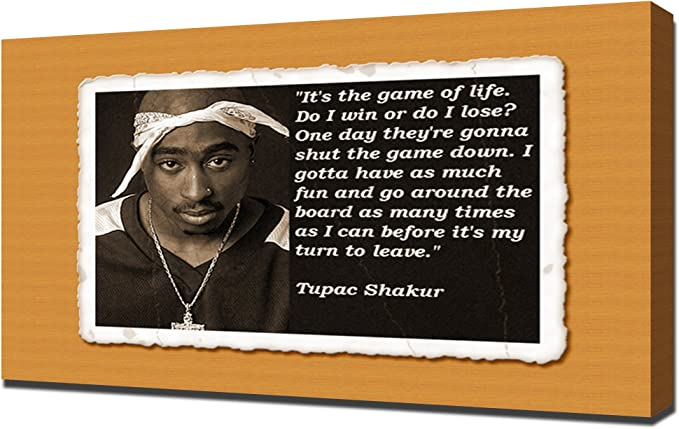 Tupac Shakur 2Pac Vintage Smoking Poster BOX CANVAS ART Print A0 A1 A2 A3 A4