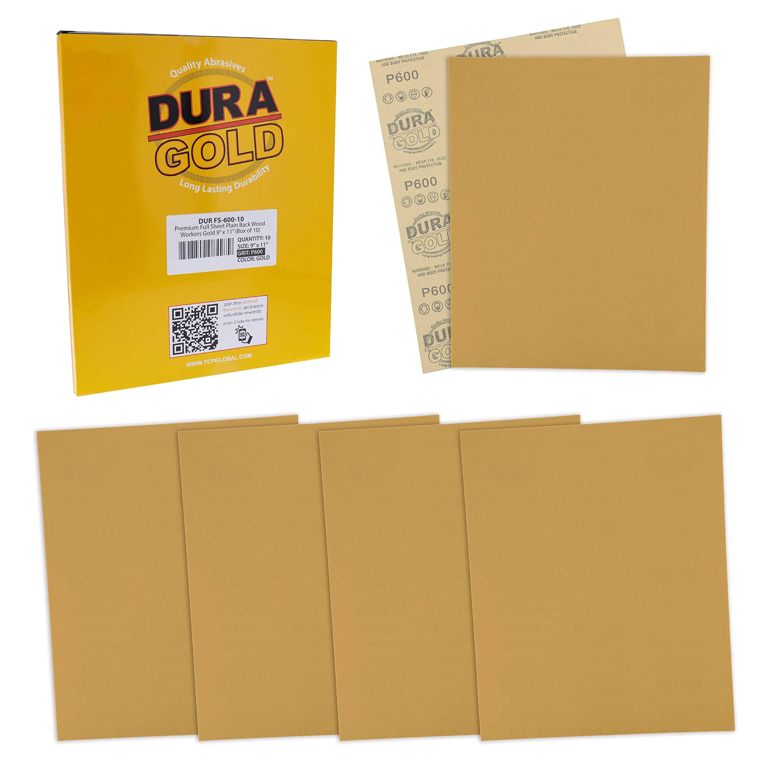 10 Lijas Dura-Gold 23cm x 28cm Grano 600