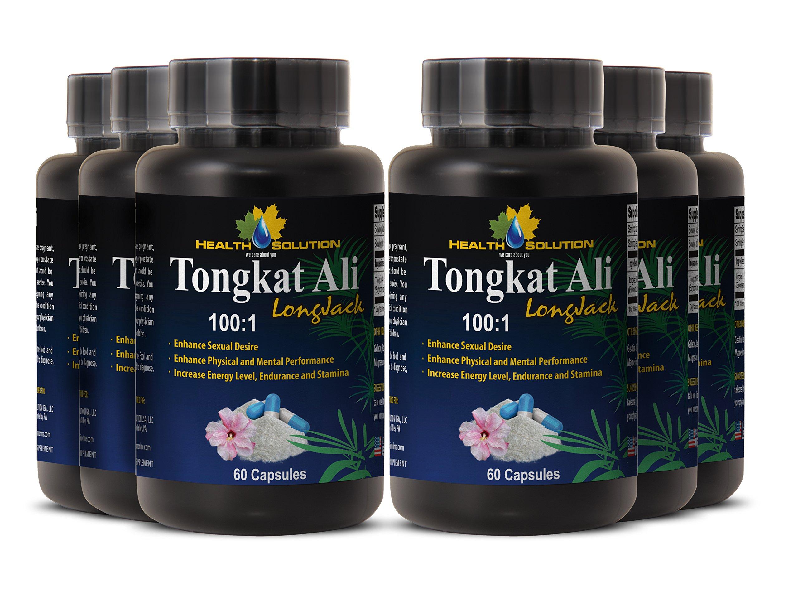 Tongkat ali bulk - TONGKAT ALI ROOT EXTRACT 100 : 1 400MG - improve muscle mass and strength (6 Bottles)