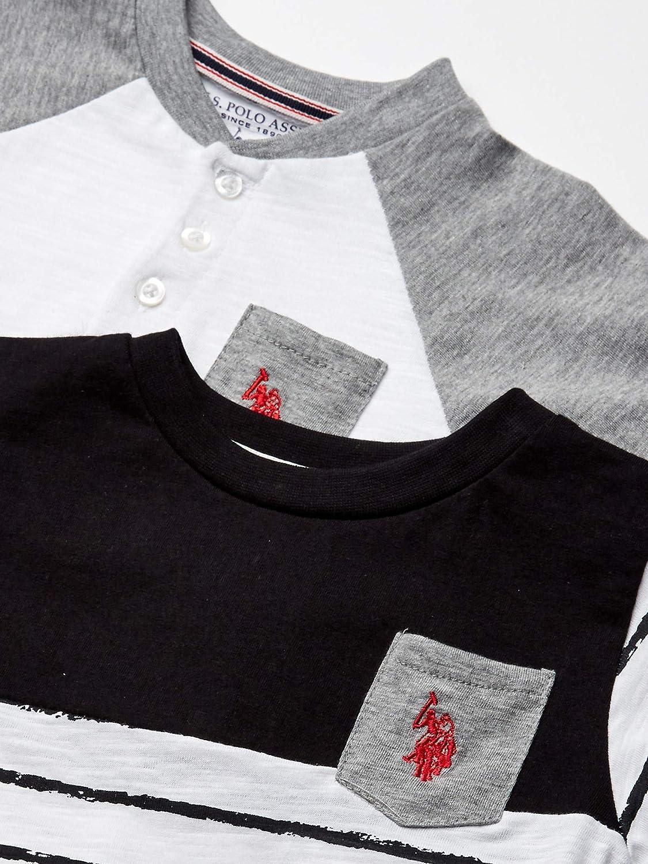 U.S Henley Baby Boys 3 Piece Short Sleeve T-Shirt Polo Assn and Short Set Shorts