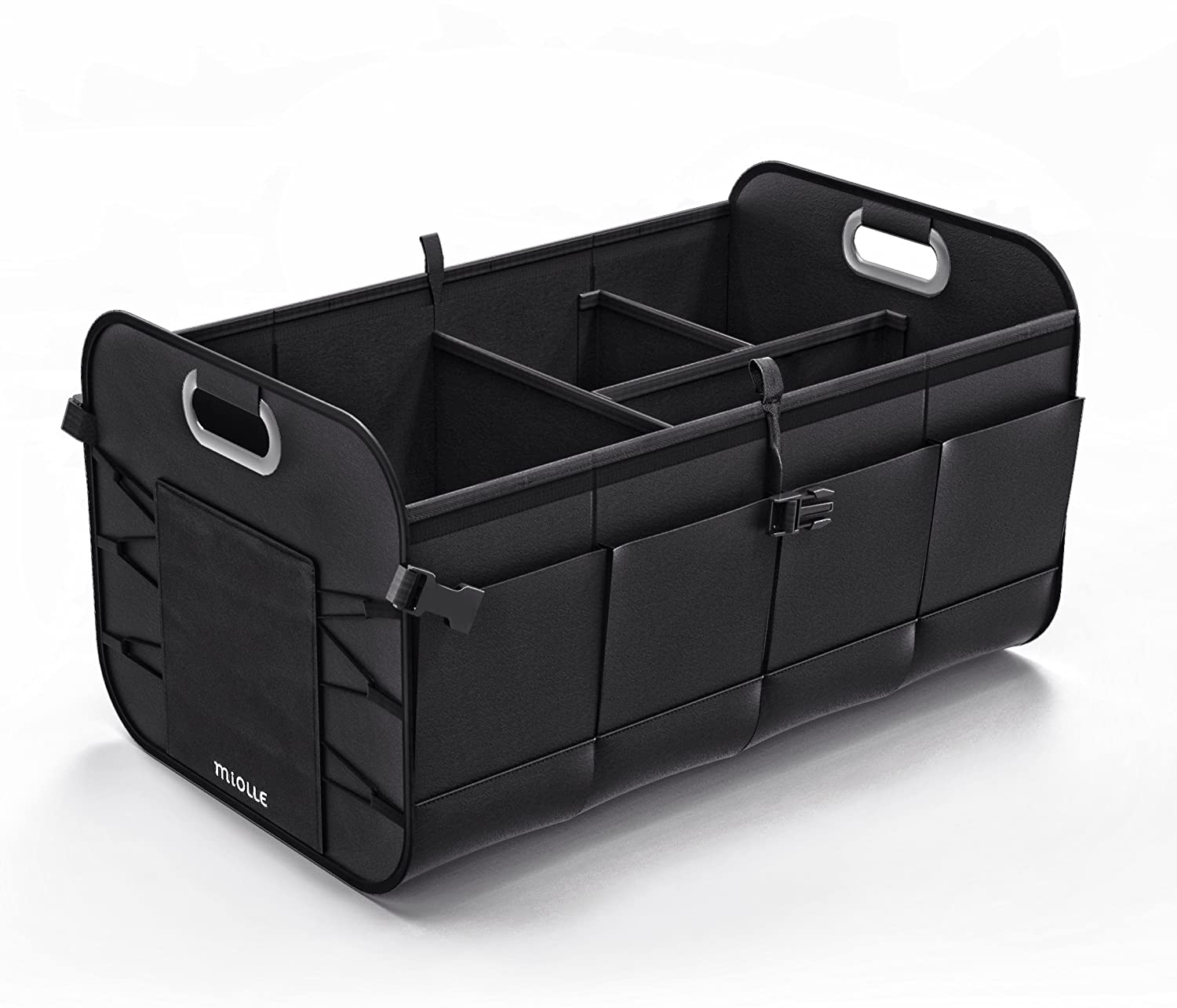 Miolle Trunk Organizer for car - Trunk Storage Organizer - Car SUV Van Cargo Storage Organizer - Auto Truck Organizers - Collapsible Organizer for Small and Large Cars