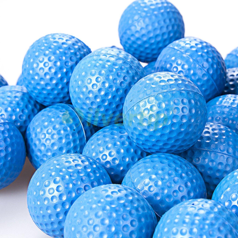 POSMA PB010AUS Golf PU Practice Balls soft balls golf training 24 Count, Blue by POSMA (Image #4)