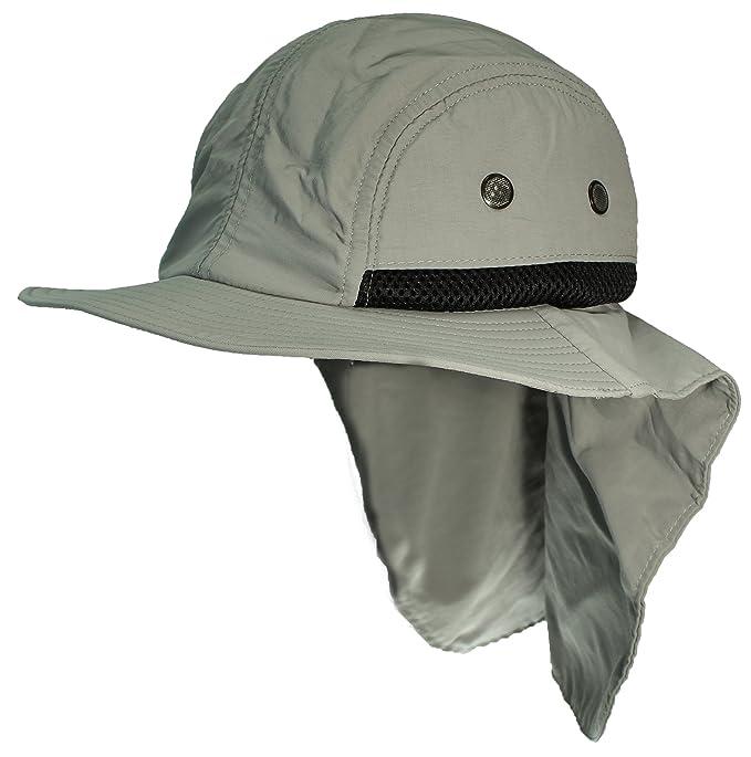 Amazon.com  Tropic Hats Kid Child Wide Brim Mesh Summer Cap W Neck ... c1f0a4fd5d3b