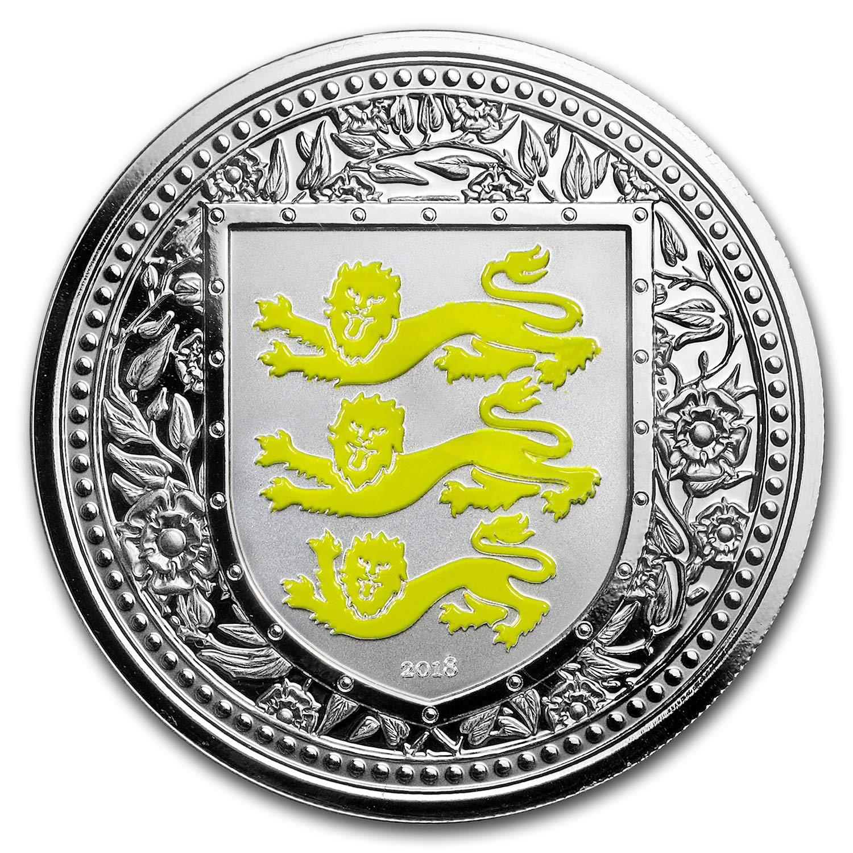 Royal Arms of England 2018 1 OZ Silver Gibraltar BU in original capsule