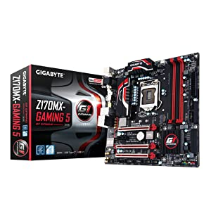 Gigabyte LGA1151 Intel Z170 Micro ATX DDR4 Motherboards GA-Z170MX-Gaming 5