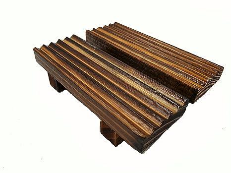Porta sapone in bambù naturale portasapone in legno di