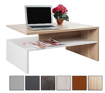 RICOO Couchtisch Mit Stauraum WM080 W ES TV Wohnzimmertisch Kaffeetisch  Beistelltisch Wohnzimmer Couch Tisch