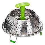 Koala Kitchen Edelstahl Dämpfeinsatz für Koch-Töpfe von 18cm - 28cm stufenlos verstellbarer Dampfgarer zum Gemüse dämpfen BPA-frei rostfrei spülmaschinenfest