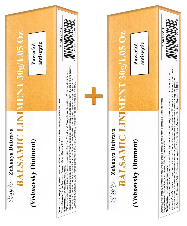 Balsamic Liniment (Vishnevsky Ointment) 30g/1.05 Oz (2 Pack)