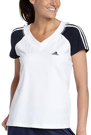 Manches T 3s À Femme Adidas Pour CourtesFemmeBlancbleu Shirt 5AL4jR