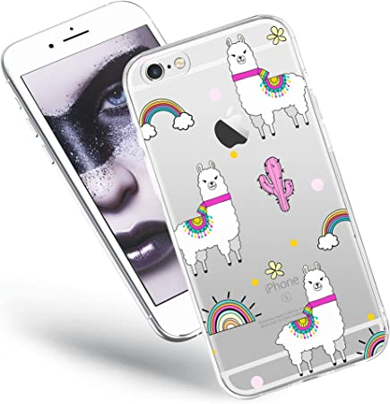 QULT Custodia Compatibile con iPhone 6S Plus Cover iPhone 6 Plus Trasparente con Disegni Silicone Morbido Chiaro Cristallo Anti-Scratch Bumper Case ...