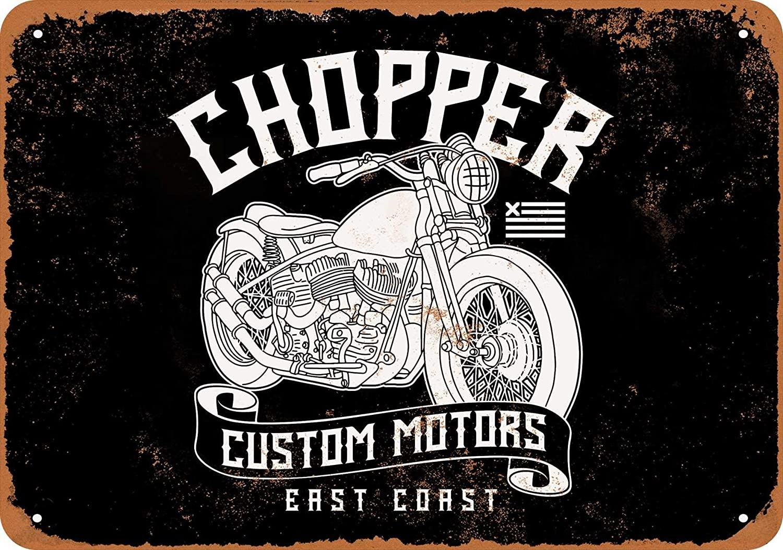 East Coast Motors >> Amazon Com Wall Color 9 X 12 Metal Sign Chopper Custom