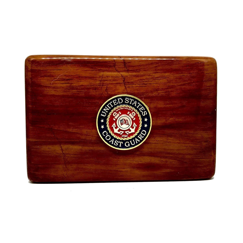 Amazon Us Coast Guard Business Card Holder Rosewood Business