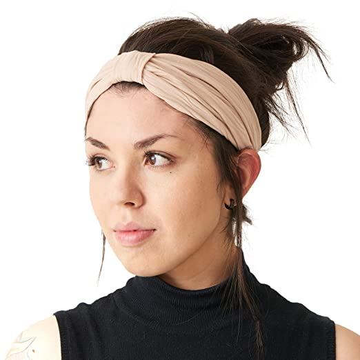 CHARM Womens Twist Turban Headband - Wide Yoga Knot Hairband Korean Fashion  Headwrap Scrunch Hair Wrap 41b146c06e8