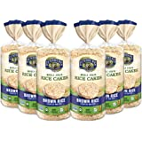 Lundberg Rice Cakes, Lightly Salted, 8.5oz (6 Count), Gluten-Free, Vegan, Non-Gmo Verified, Kosher, Whole Grain Brown Rice
