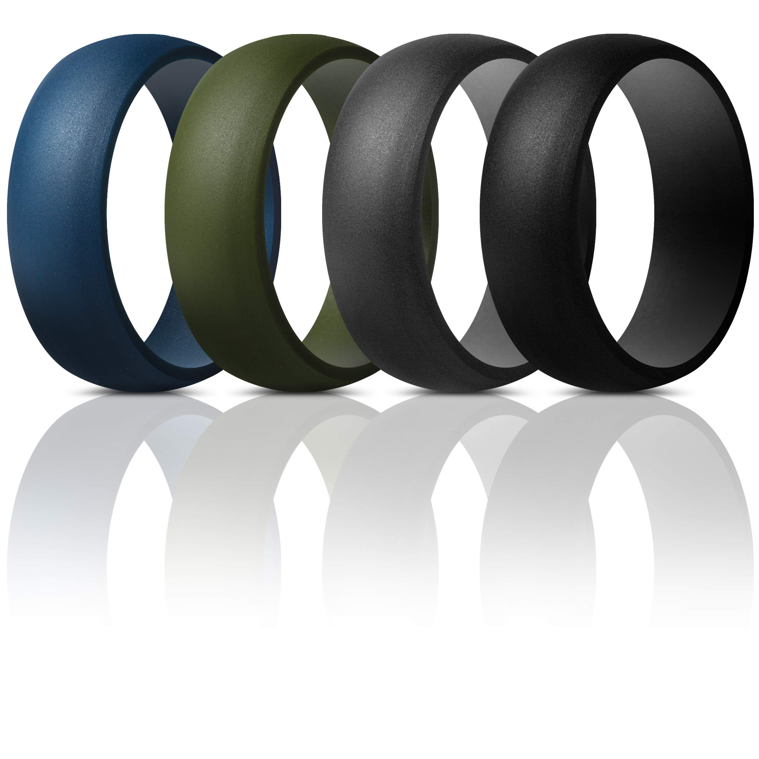 8.7mm Wide ThunderFit Silicone Wedding Ring for Men 2.5mm Thick