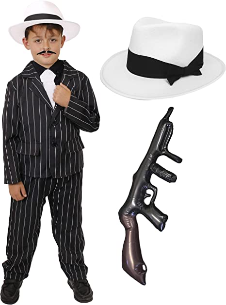 anteprima di acquisto economico qualità superiore CHILDS 1920's GANGSTER FANCY DRESS COSTUME - BLACK PINSTRIPE SUIT ...