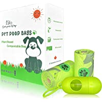 240-Pack 100% Biodegradable and Compostable Cute Poop Bags with 【Bags Dispenser for FREE】 / Vegetable-Based & Eco…