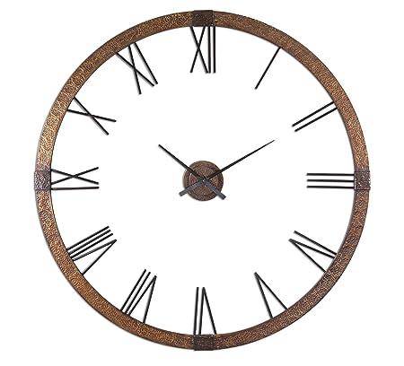 Extra Large Copper Open Wall Clock Designer Openwork XL