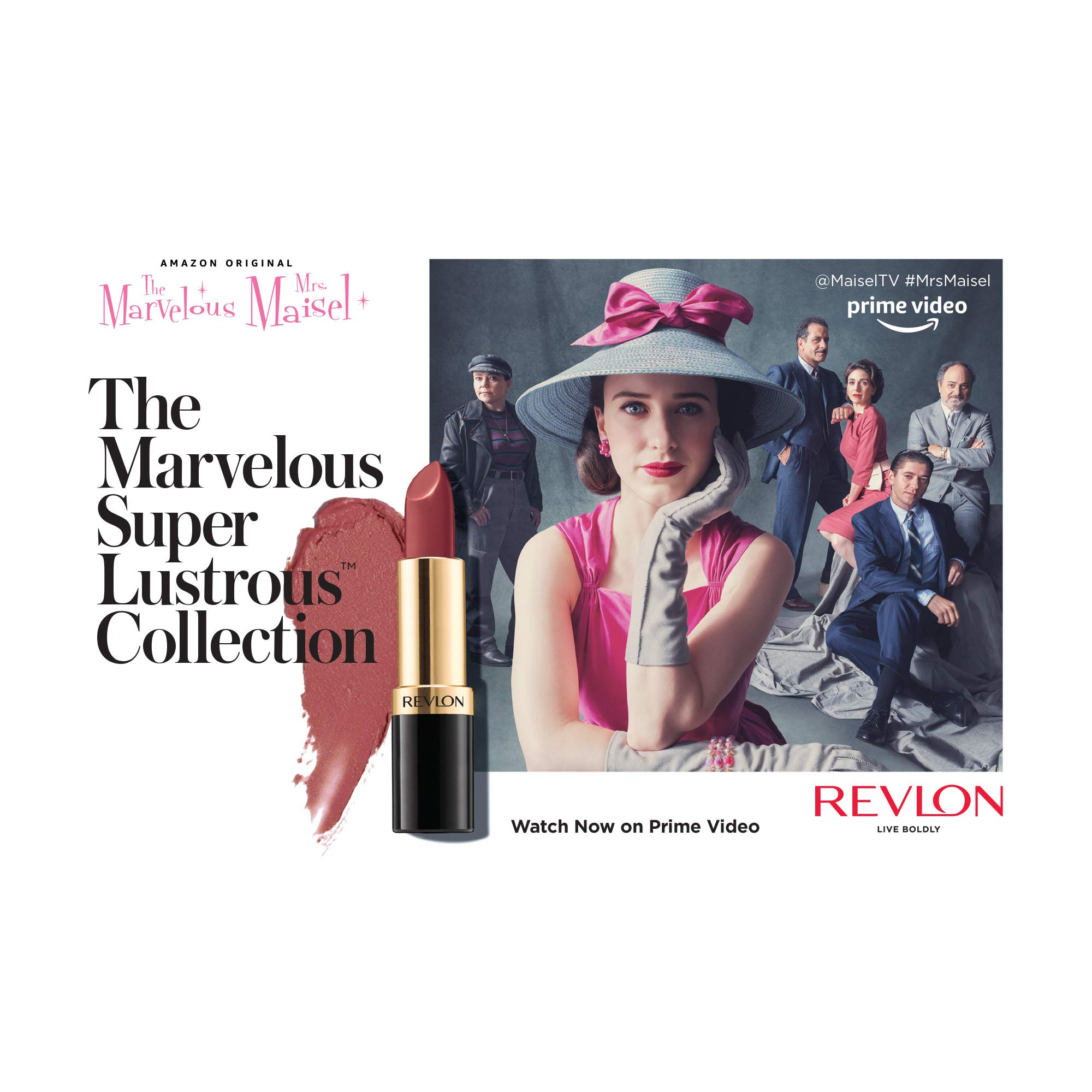 From Revlon, The Marvelous Super Lustrous Collection in Stand-up Nudes, Limited Edition Lipstick Set, Pack of 3