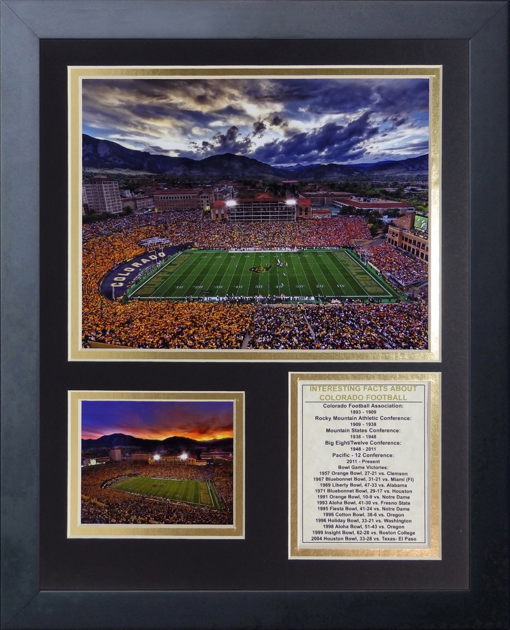 11 x 14 Legends Never Die Folsom Stadium Colorado University Framed Photo Collage