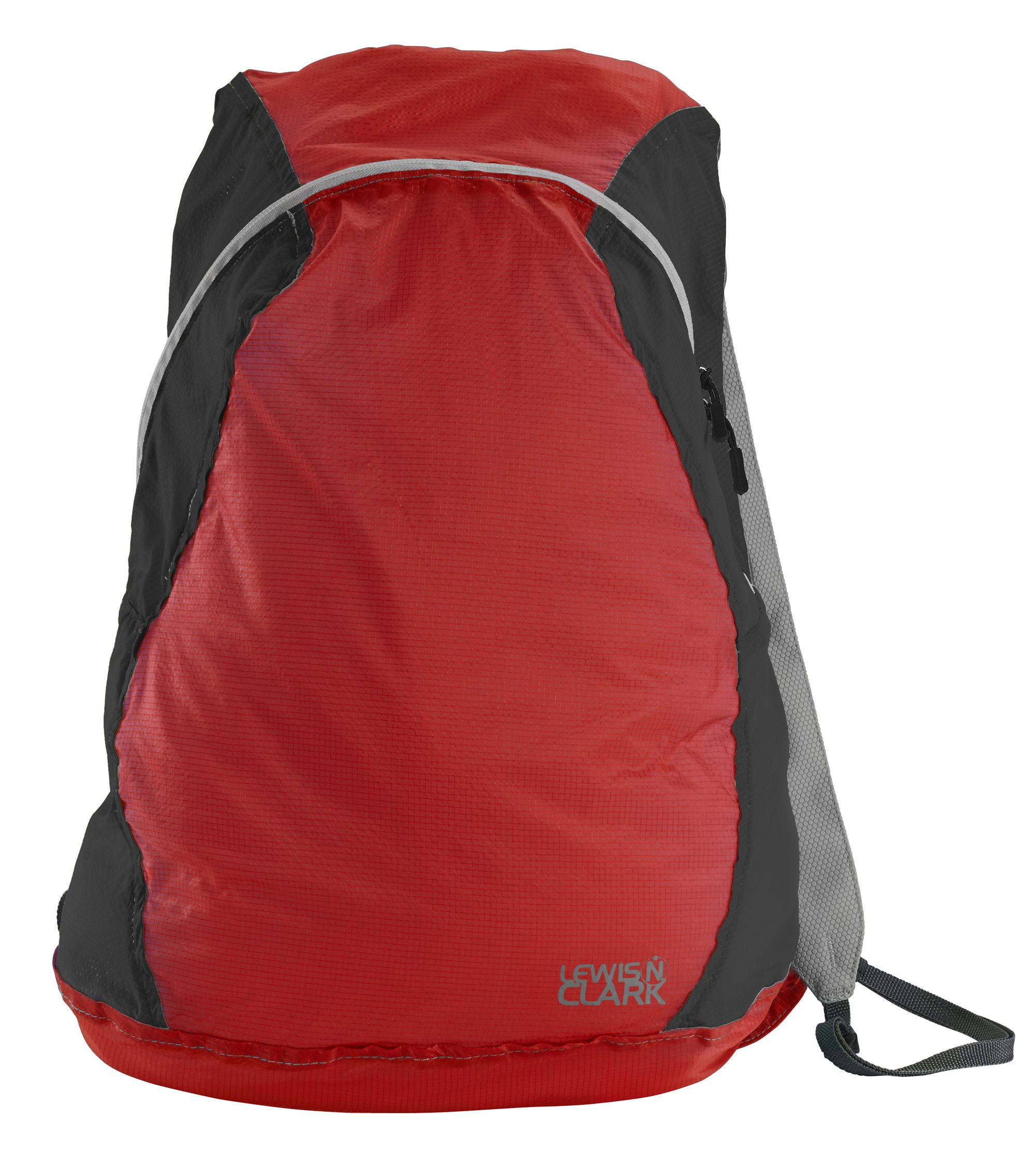 Lewis N Clark ElectroLight Multipurpose Packable Lightweight Travel Backpack, Red/Charcoal, One Size