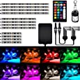 AMBOTHER 12Pcs Motorcycle LED Light Kits Strips Waterproof Multicolor IR/RF Remote Controllers Underglow Accent Glow Neon Ground Effect Atmosphere Lights Lamp for Harely Davidson Motorcycle