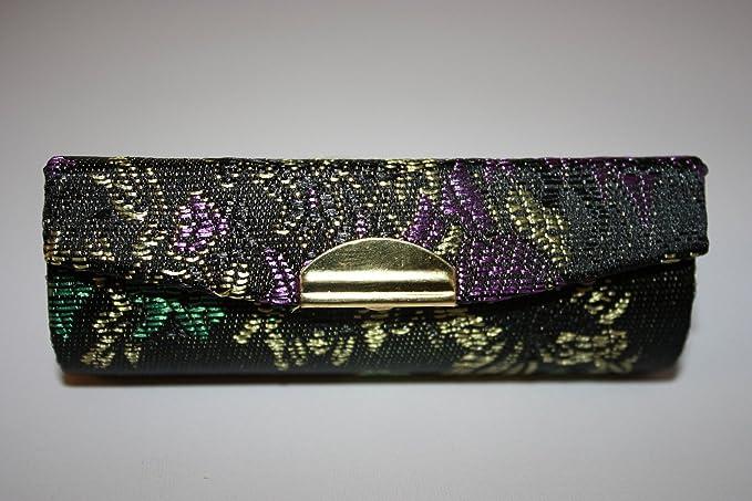 Estuche para pintalabios con espejo en el interior, brocado de seda, guarda un pintalabios por estuche: Amazon.es: Electrónica