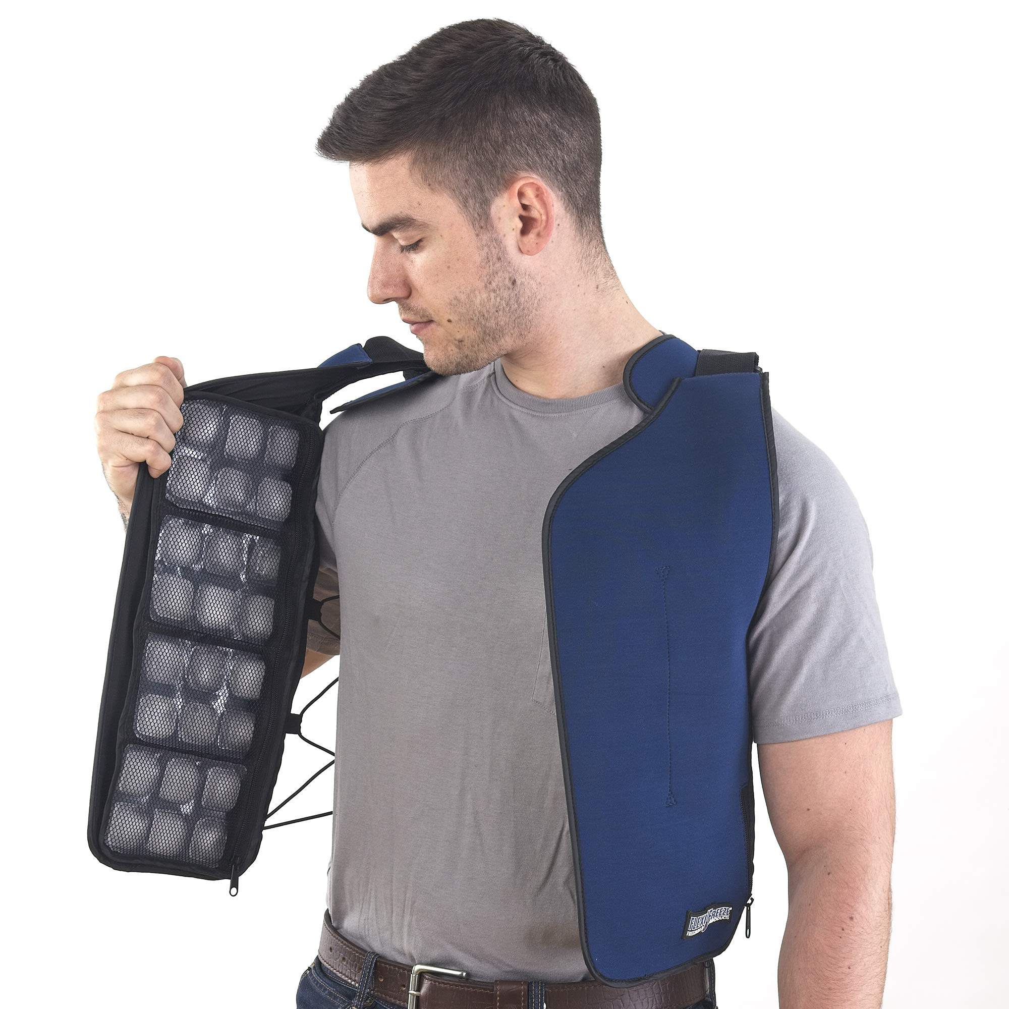 FlexiFreeze Ice Vest (Zipper Closure) by FlexiFreeze