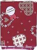 Stoffpak natalizio - Confezione di 4 pezze - tessuti natalizi (rosso, ecru e taupe) | 100% puro cotone | 80 x 80 cm