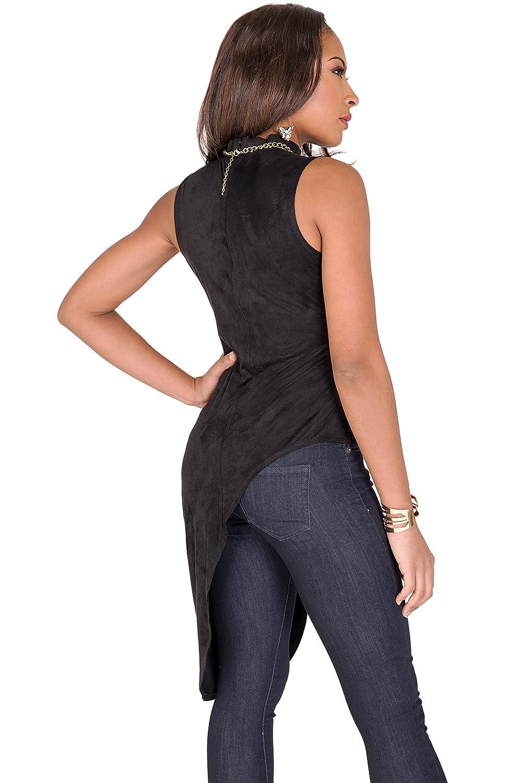 f44c69b3693580 Poetic Justice Curvy Women's Black Asymmetrical Sleeveless Mock Turtleneck  Tunic at Amazon Women's Clothing store: