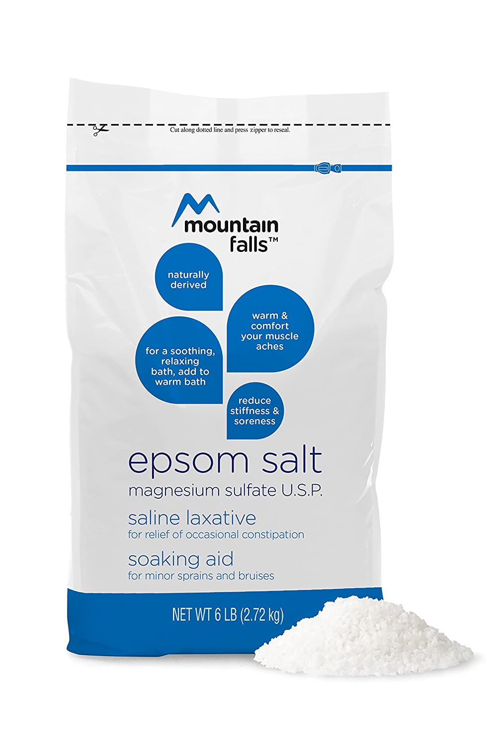 Amazon.com : Mountain Falls Epsom Salt Magnesium Sulfate, 6 Pound (Pack of 6) : Beauty
