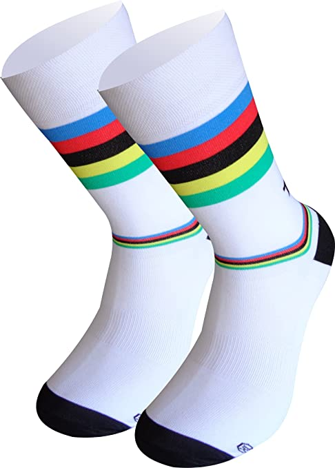 TKS Campeon del Mundo Calcetines Lagos Media Caña Tradicional. Compresion Ligera calcetin especifico de Ciclismo, Running Y Trailrunning (Blanco, S(36-39)): Amazon.es: Ropa y accesorios