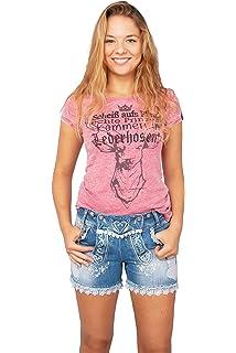 Jeans MarJo Leder /& Tracht Kinder Kniebundhose Jeans blau