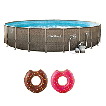 Amazon.com: Summer Waves - Piscina con flotador hinchable ...