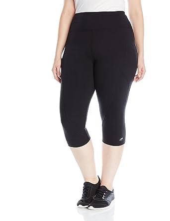 a5451c5fee5e74 Marika Women's Plus Size Pieced High Rise Capri Legging at Amazon Women's  Clothing store: